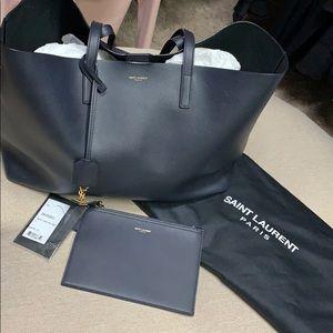 Authentic YSL Saint Laurent Large Leather Shopper